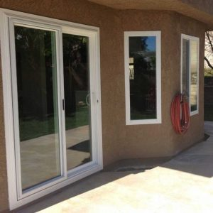 Patio Sliding Door With Windows