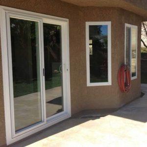 Patio Sliding Door With Windows