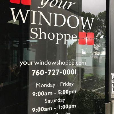 Your Window Shoppe Front Door