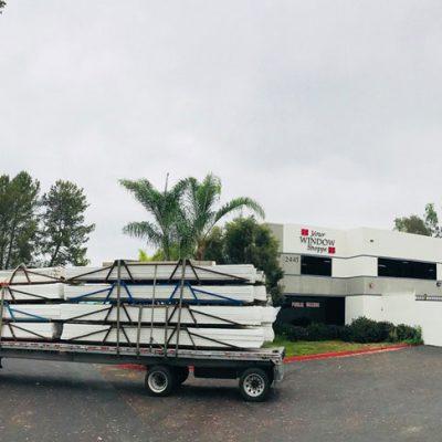Truck Delivering Vinyl for Windows and Doors