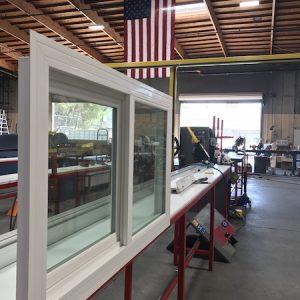 Vinyl Window in Factory